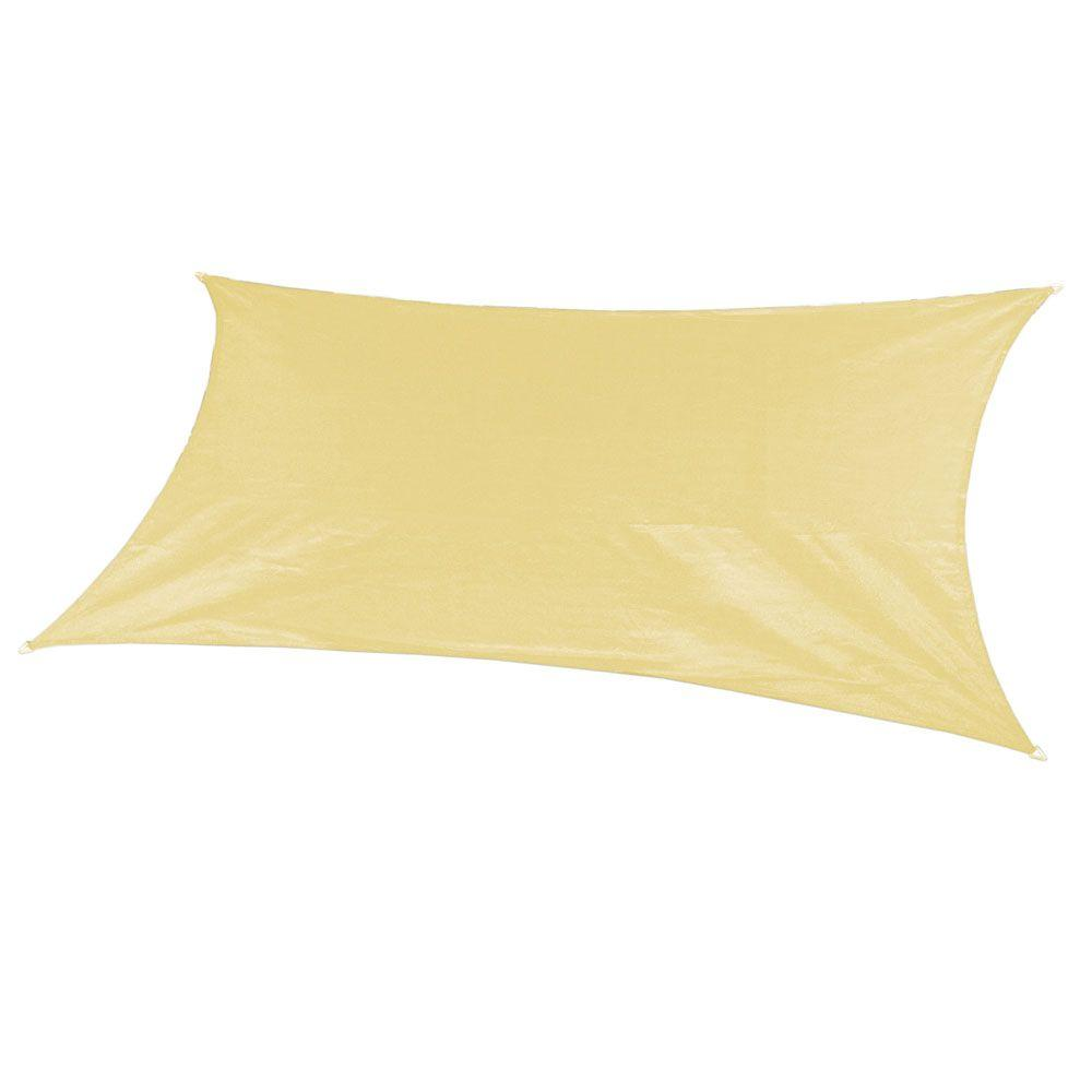 Coolaroo 18 ft. x 10 ft. Beige Rectangle Ultra Shade Sail