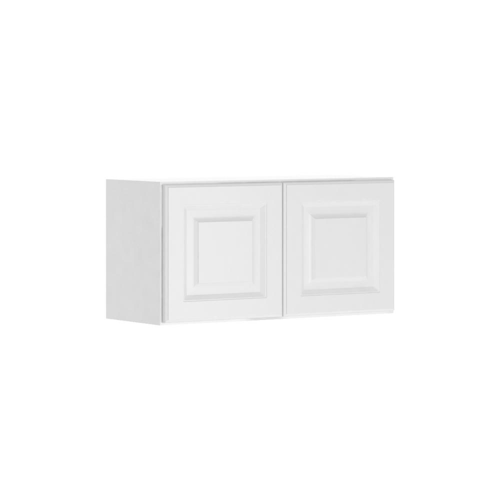 Assembled 30x15x12 in. Madison Wall Bridge Cabinet in Warm White