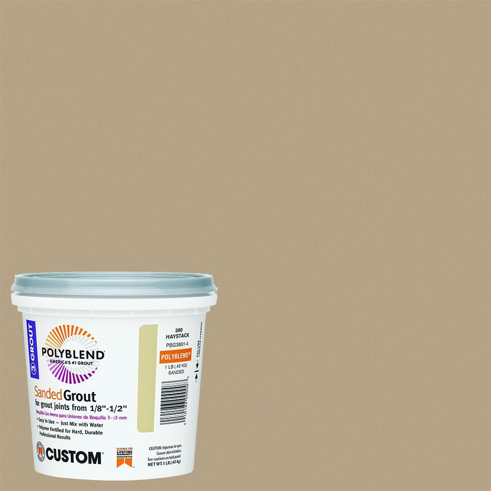 Custom Building Products Polyblend #380 Haystack 1 lb. Sanded Grout