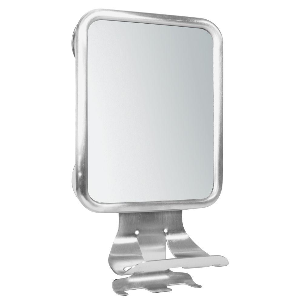Forma Suction 12 in. x 7-1/5 in. Framed Wall Mirror Center