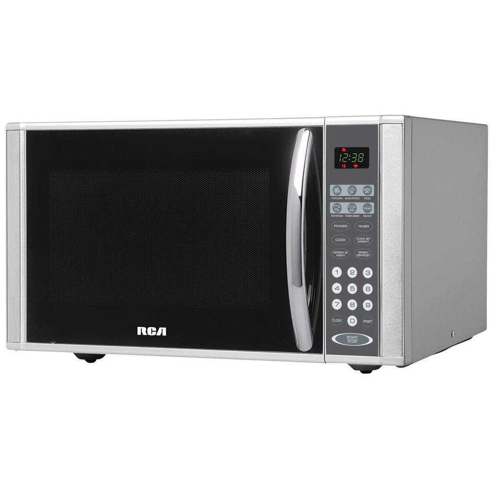 RCA 1.1 cu. ft. Countertop Microwave in Stainless Steel-RMW1138 - The ...