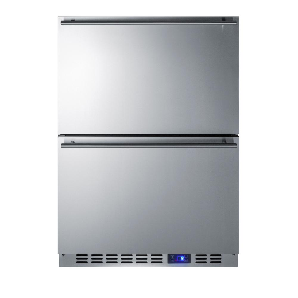 3.5 cu. ft. Frost Free Upright Outdoor Freezer In Stainless Steel