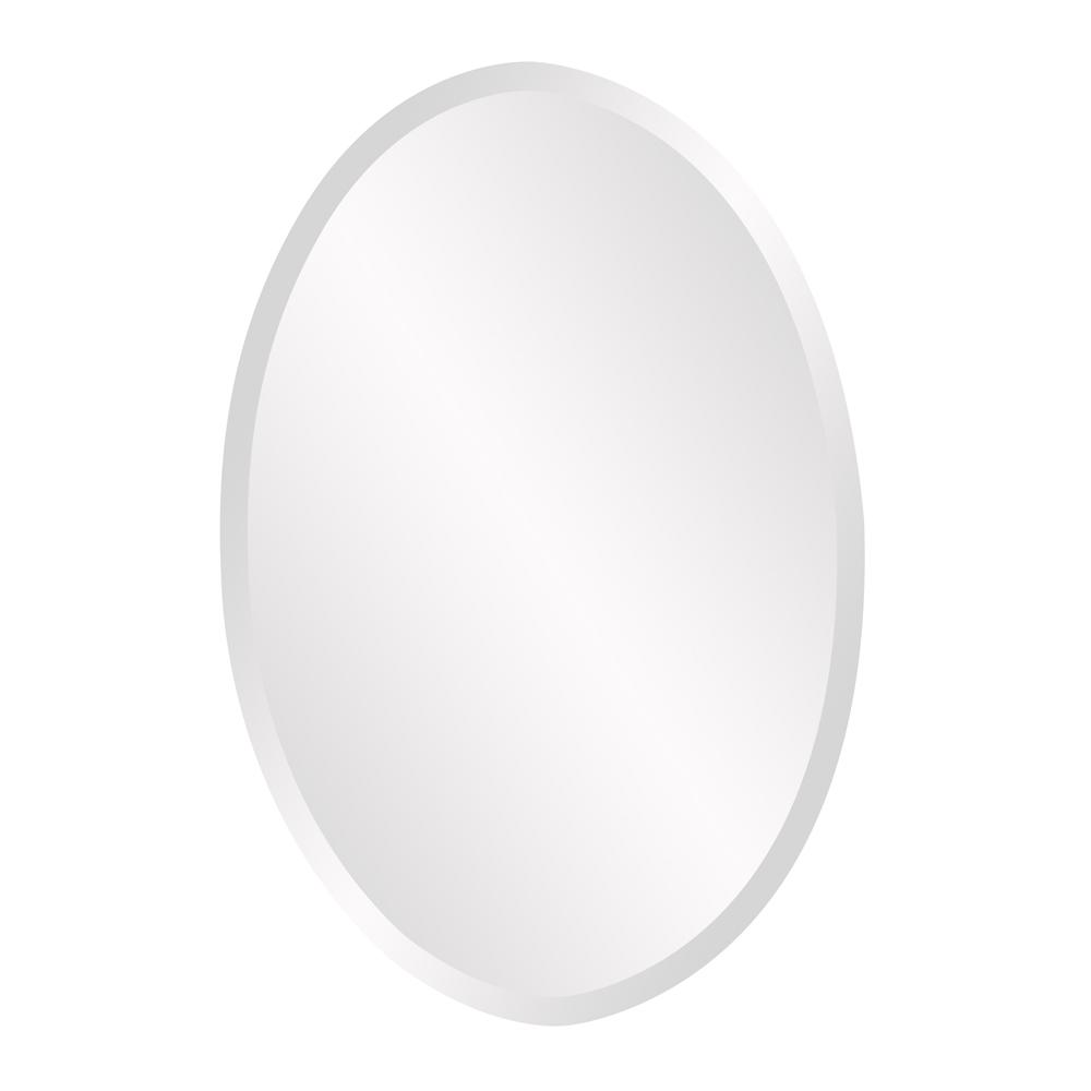 null 36 in. x 24 in. Oval Frameless Mirror