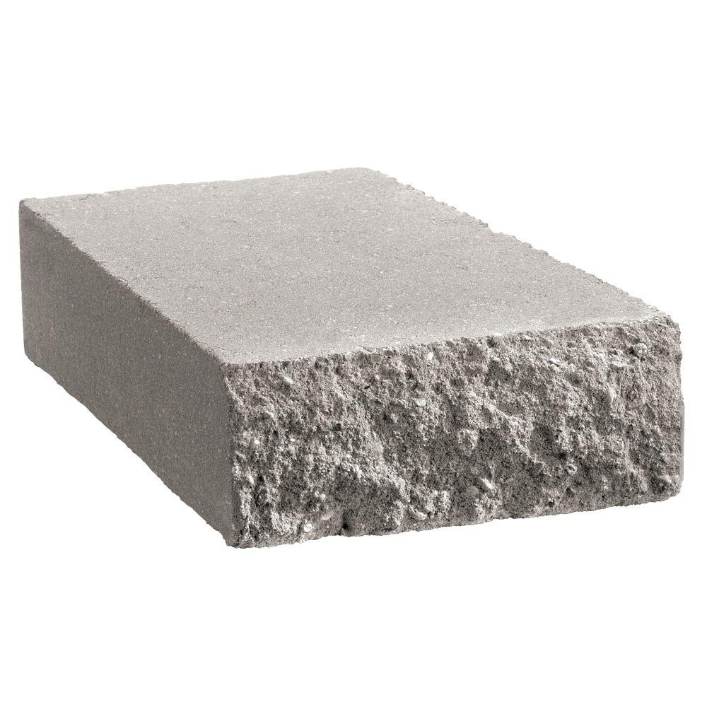 Retaining Wall Block Caps Home Depot : Anchor shortcut in gray concrete retaining wall cap the home depot