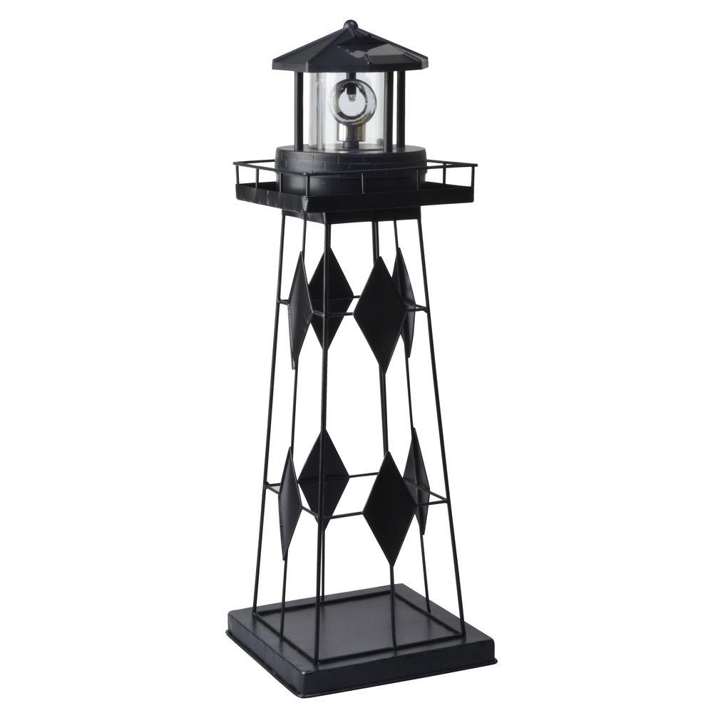 Moonrays Solar Powered Outdoor LED Lighthouse-91526 - The Home Depot