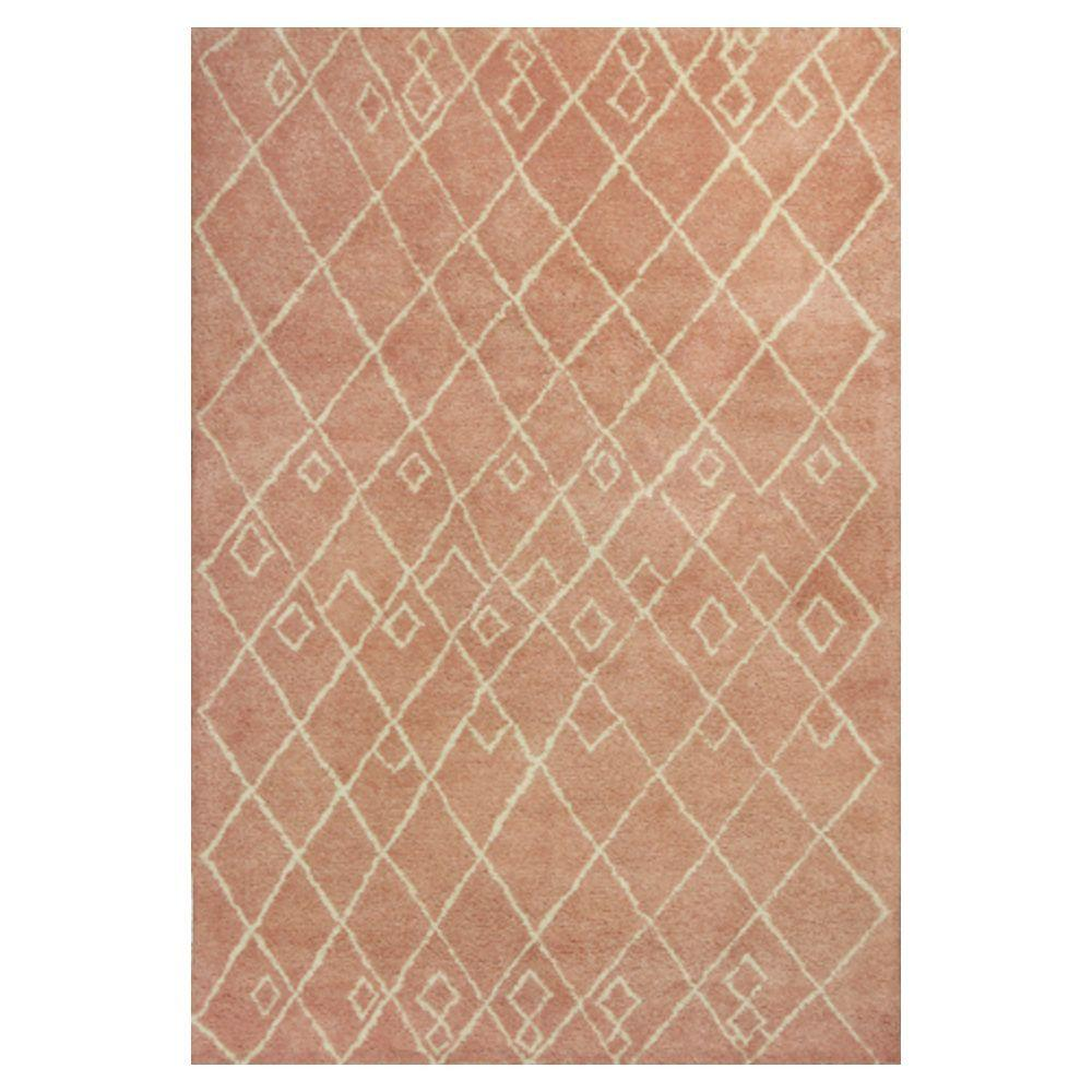 Kas Rugs Artsy Moroccan Coral/Cream 5 ft. x 7 ft. 6 in. Area Rug