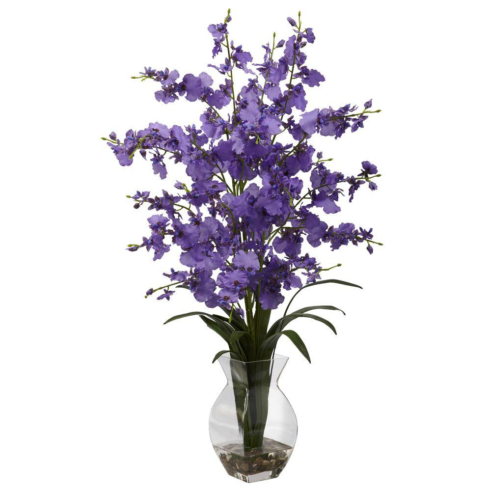 Dancing Lady Orchid with Vase Arrangement in Purple