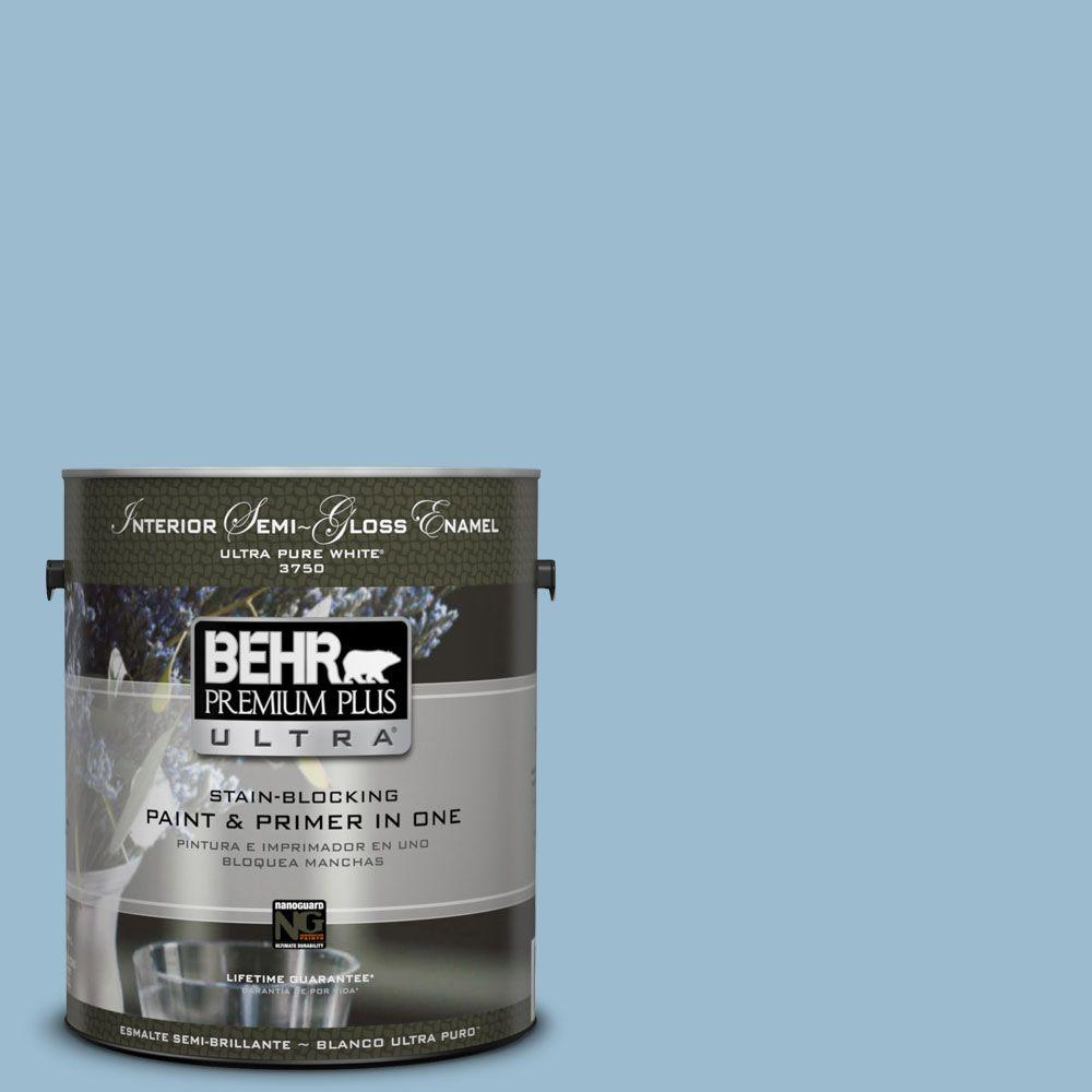 BEHR Premium Plus Ultra 1-gal. #S500-3 Partly Cloudy Semi-Gloss Enamel Interior Paint