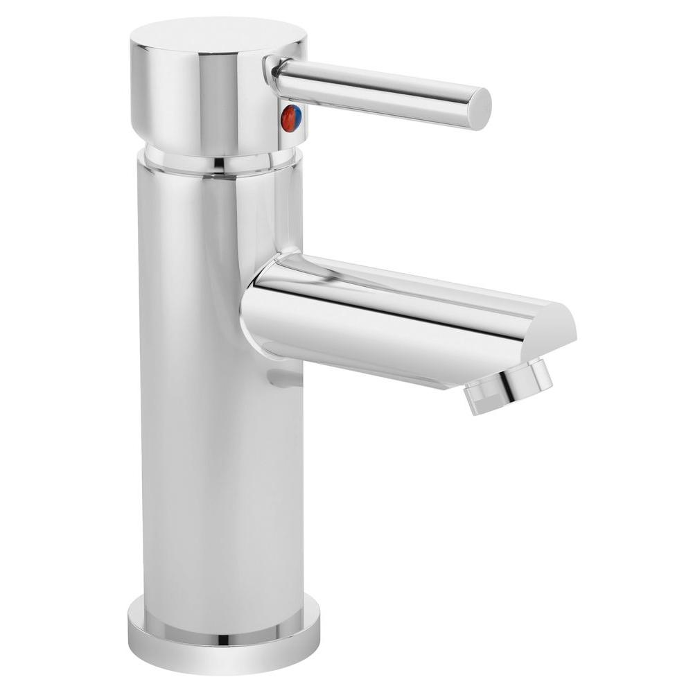 Dia Single Hole 1-Handle Bathroom Faucet in Chrome
