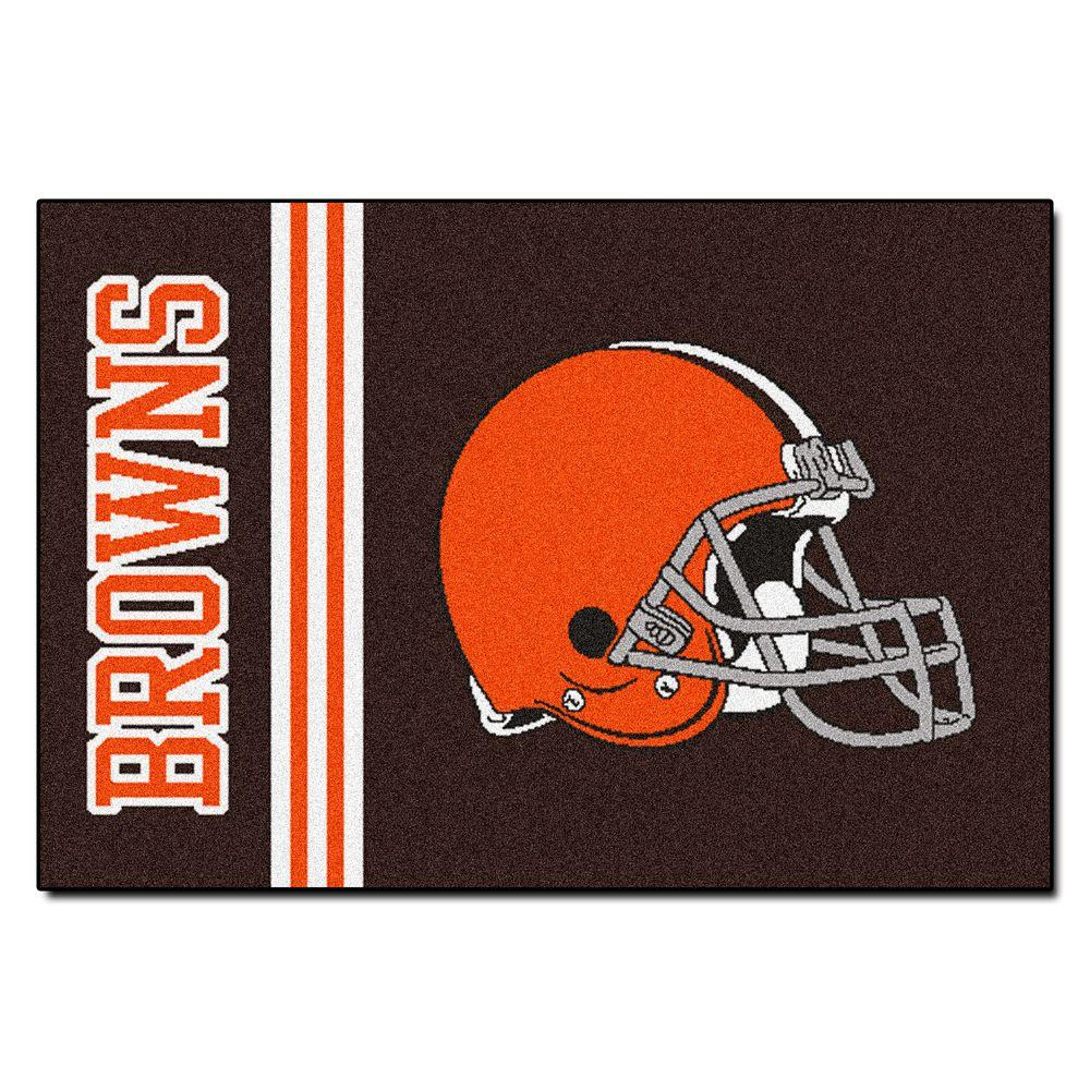 NFL - Cleveland Browns Brown Uniform Inspired 1 ft. 7 in. x 2 ft. 6 in. Accent Rug