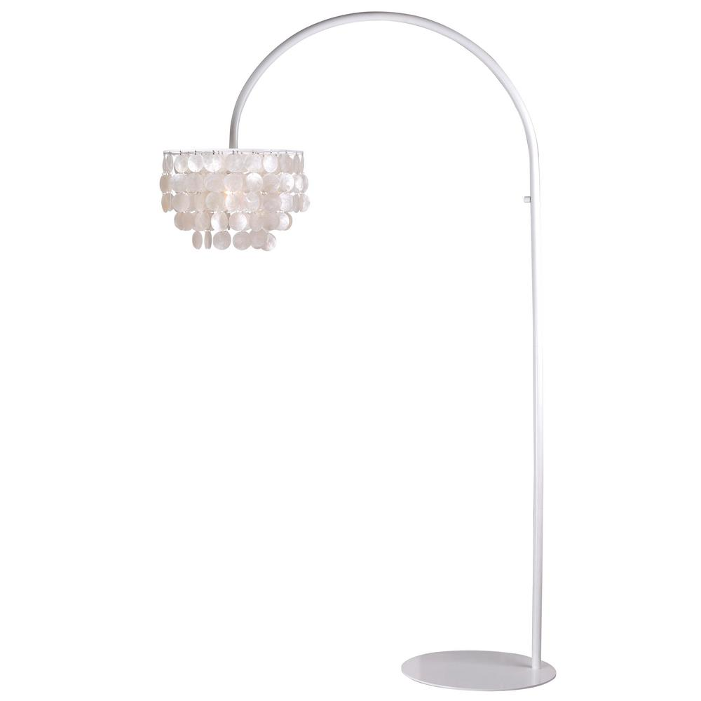 Kenroy Home Shelley73 in. White Arc Lamp-32459WH - The Home Depot