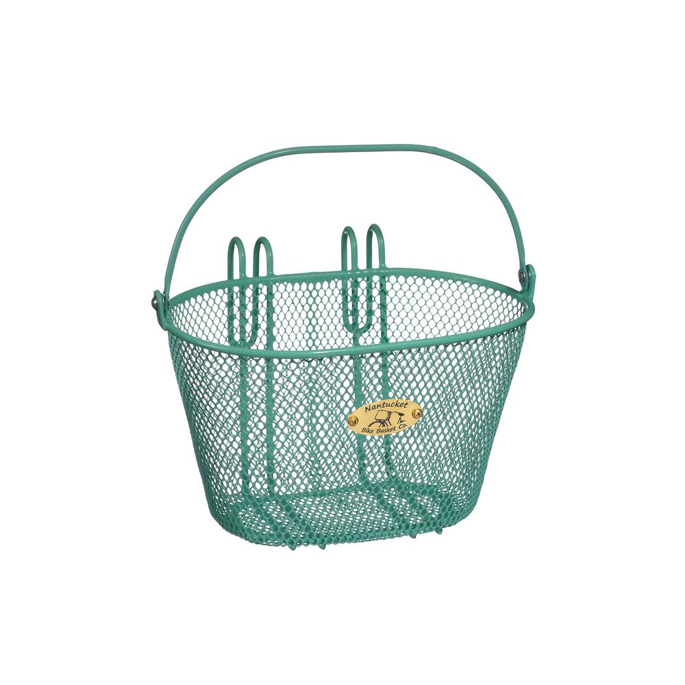 Nantucket Bicycle Basket Co. Surfside Child Mesh Wire Basket in Turquoise