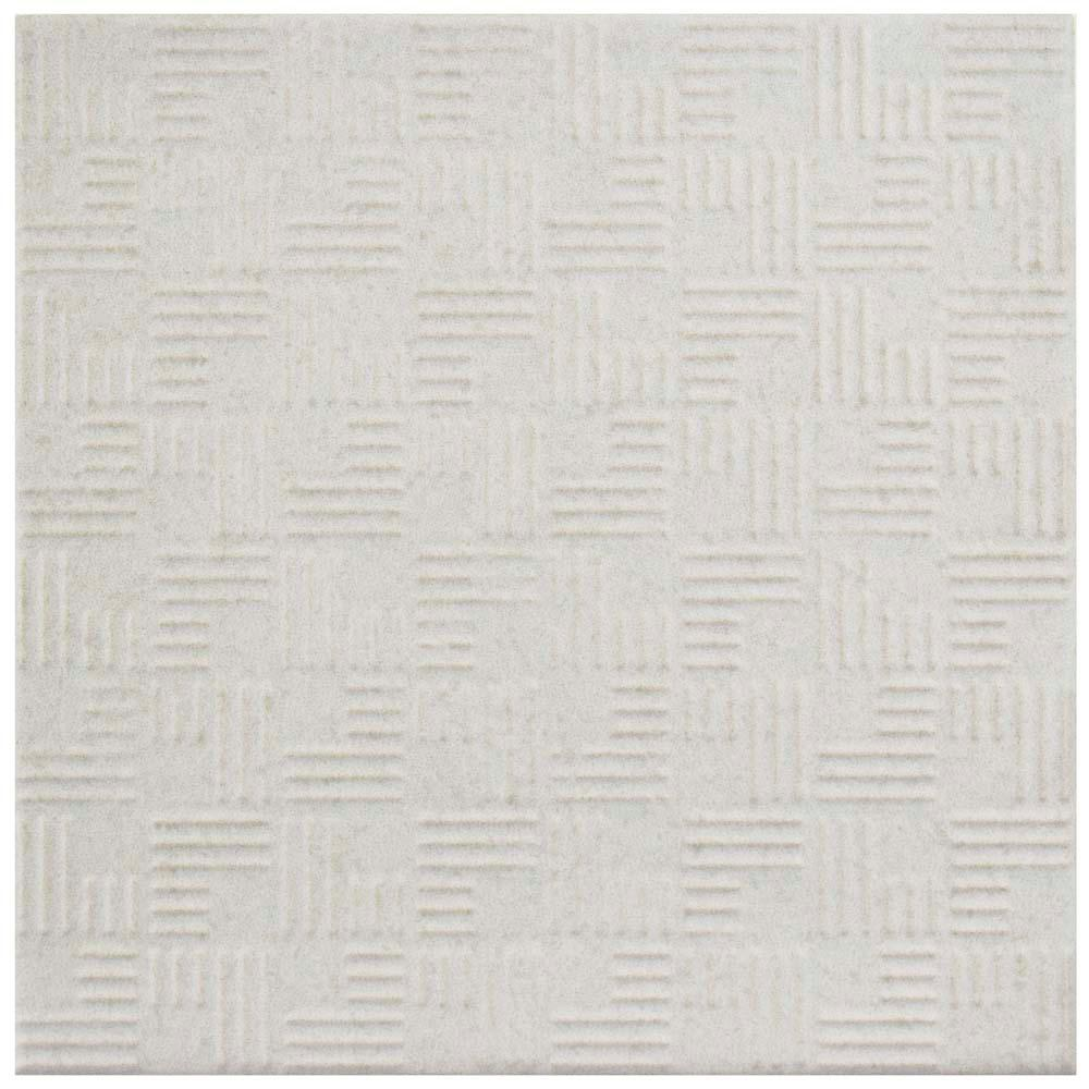 Area 15 White 6 in. x 6 in. Porcelain Floor and