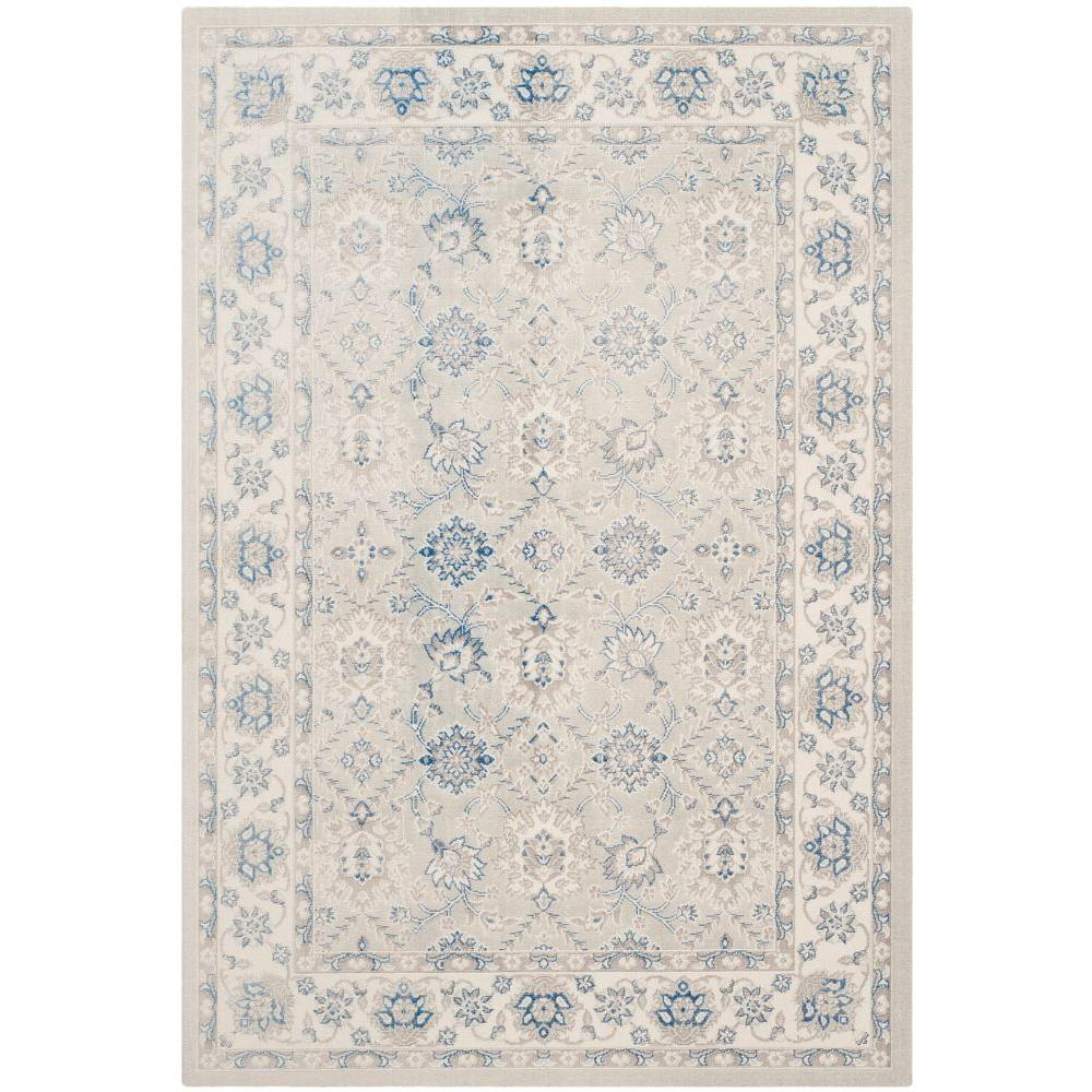 Patina Light Blue/Ivory 6 ft. 7 in. x 9 ft. Area Rug