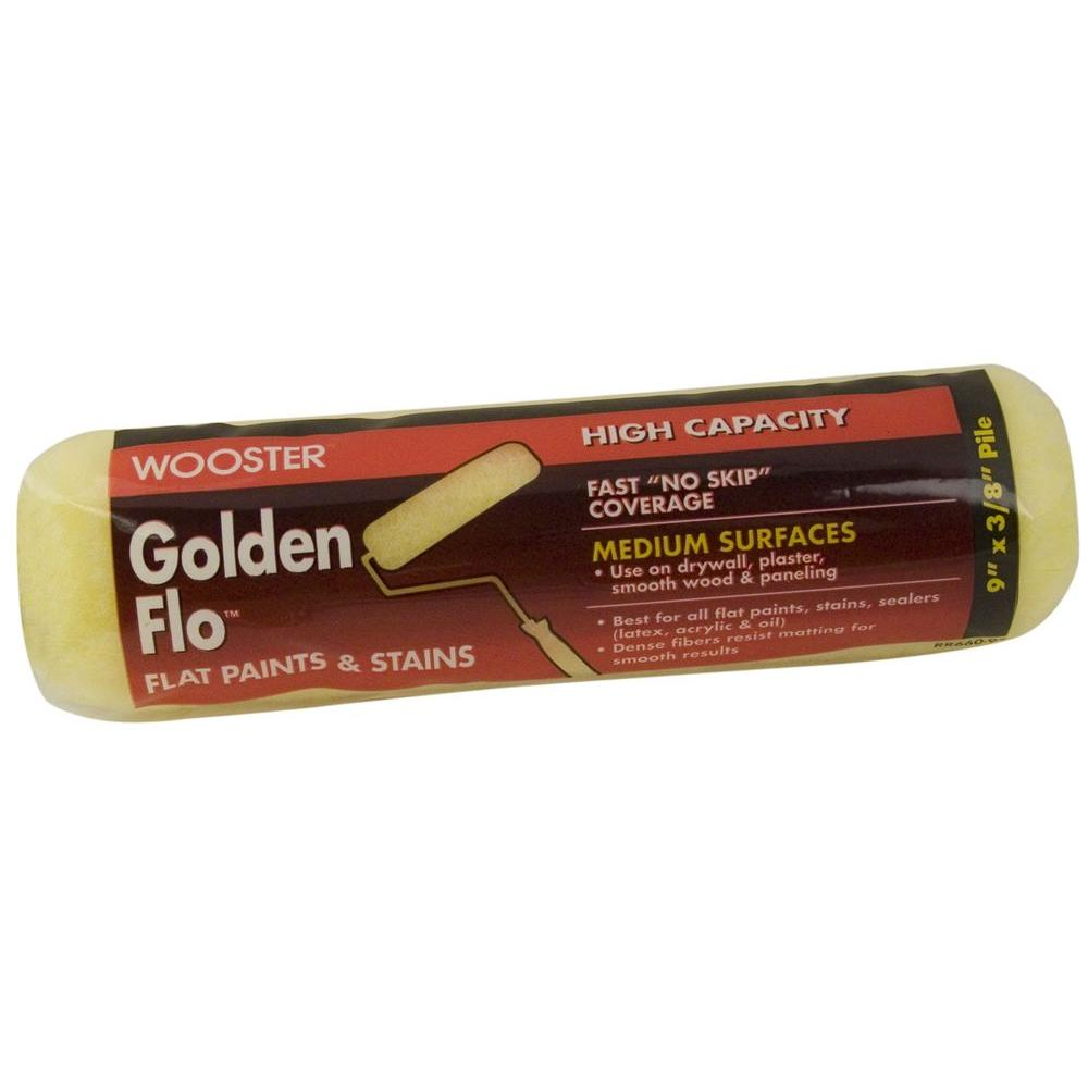 Wooster 9 in. x 3/8 in. Golden Flo High-Density Fabric Roller