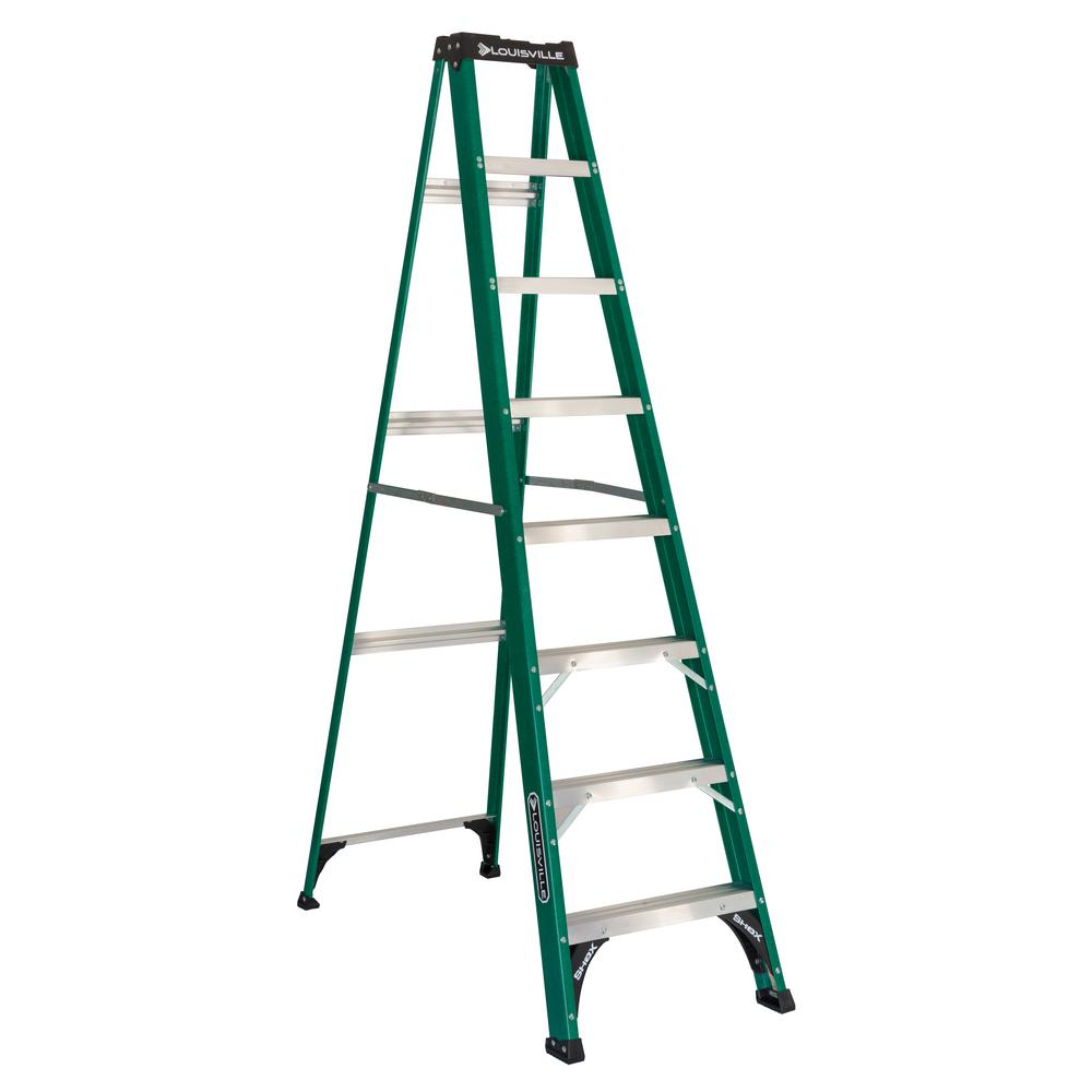 8 ft. Fiberglass Step Ladder with 225 lbs. Load Capacity Type