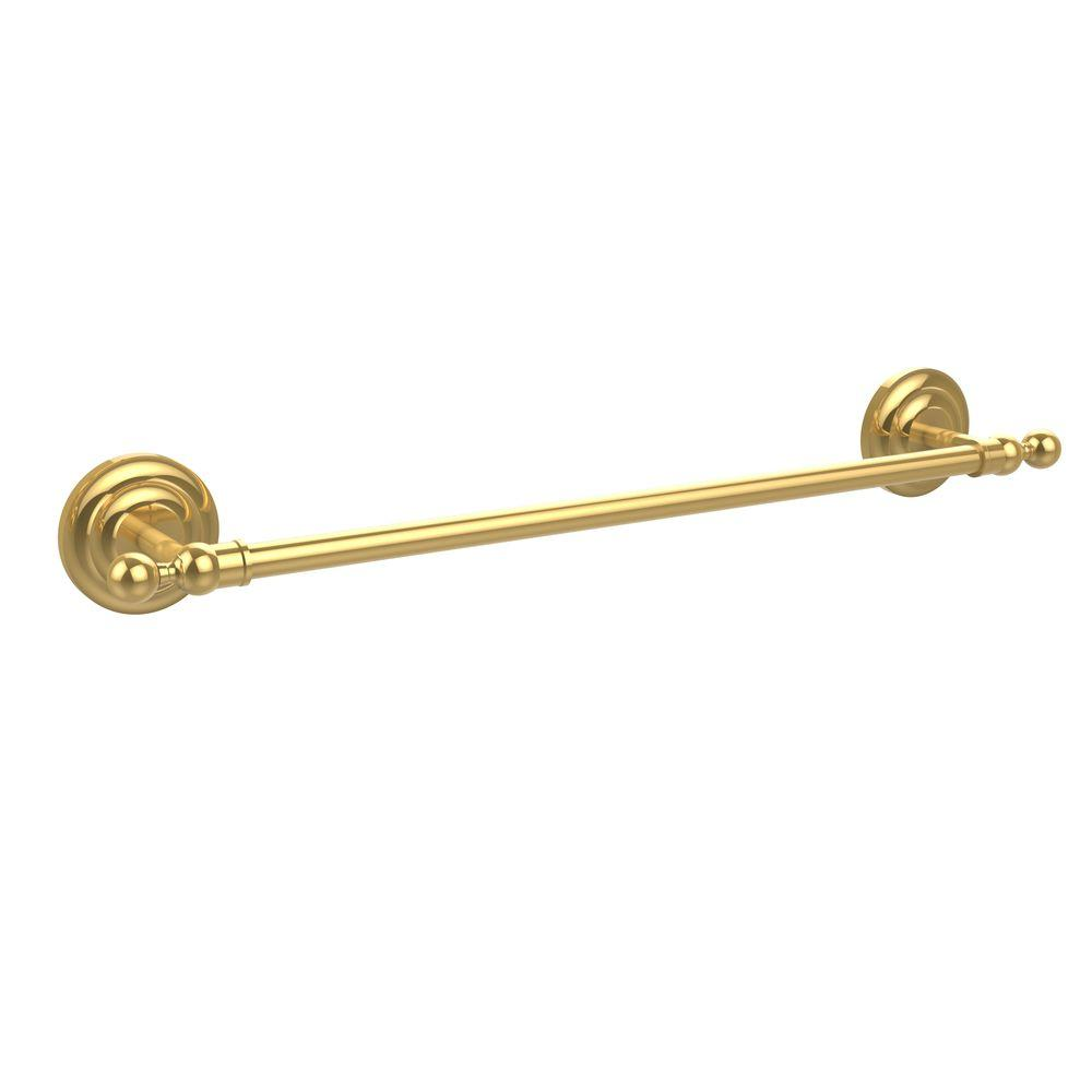 Que New Collection 24 in. Towel Bar in Polished Brass