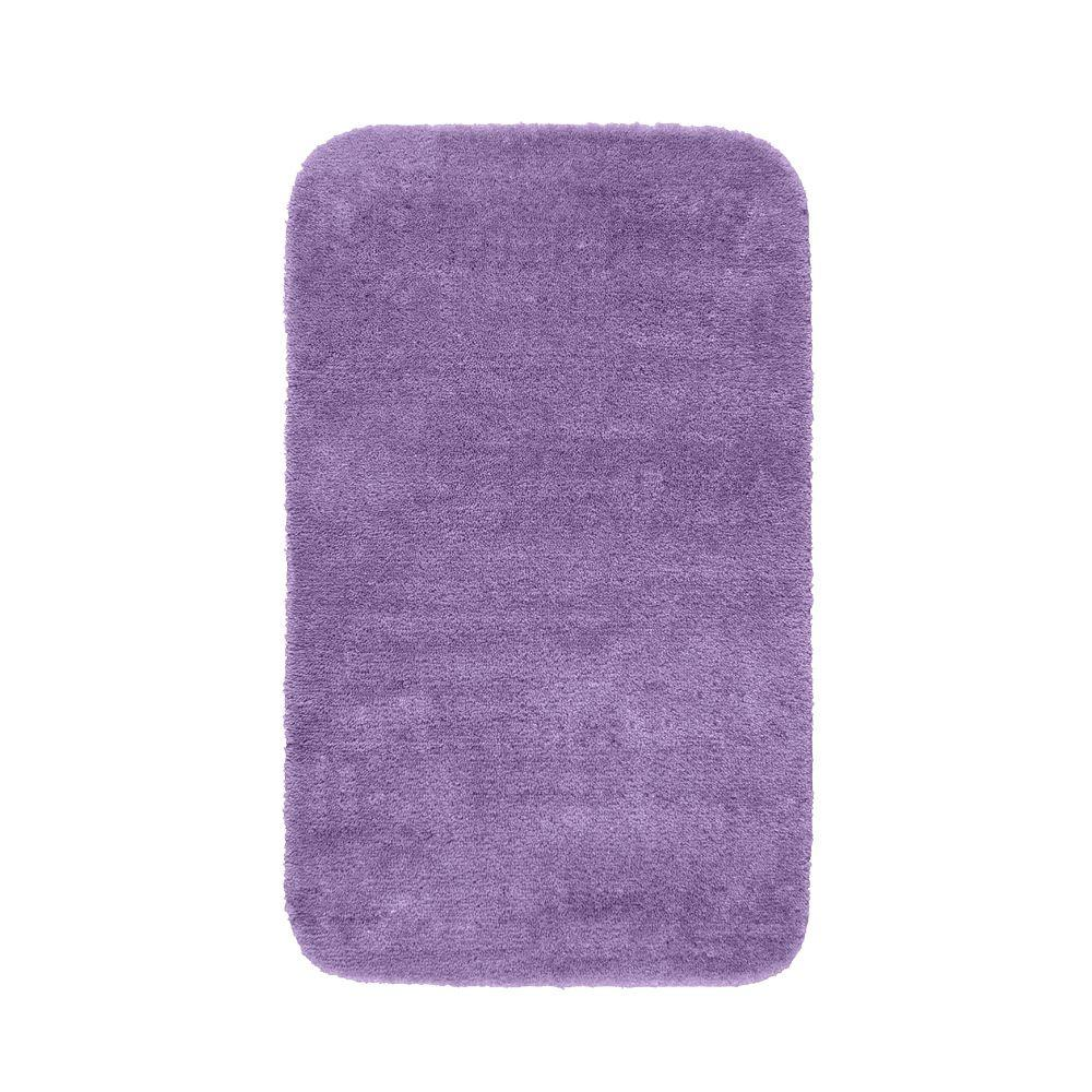 Garland rug traditional purple 30 in x 50 in washable for Rugs with purple accents
