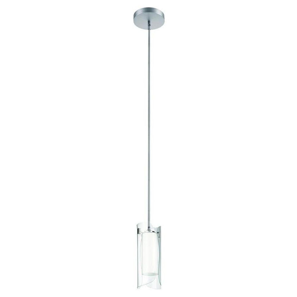 Philips Scales 1-Light Nickel Hanging Pendant with Medium Base Clear Glass-507611748 - The Home ...
