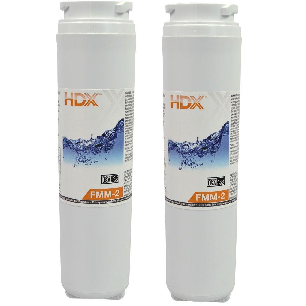 HDX FMM-2 Refrigerator Replacement Filter Fits Whirlpool Filter 4 (Value