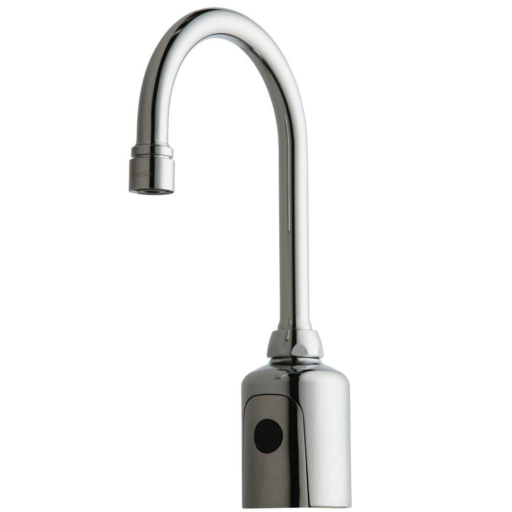 Chicago Faucets HyTr83 DC-Powered Single Hole Touchless Bathroom Faucet in