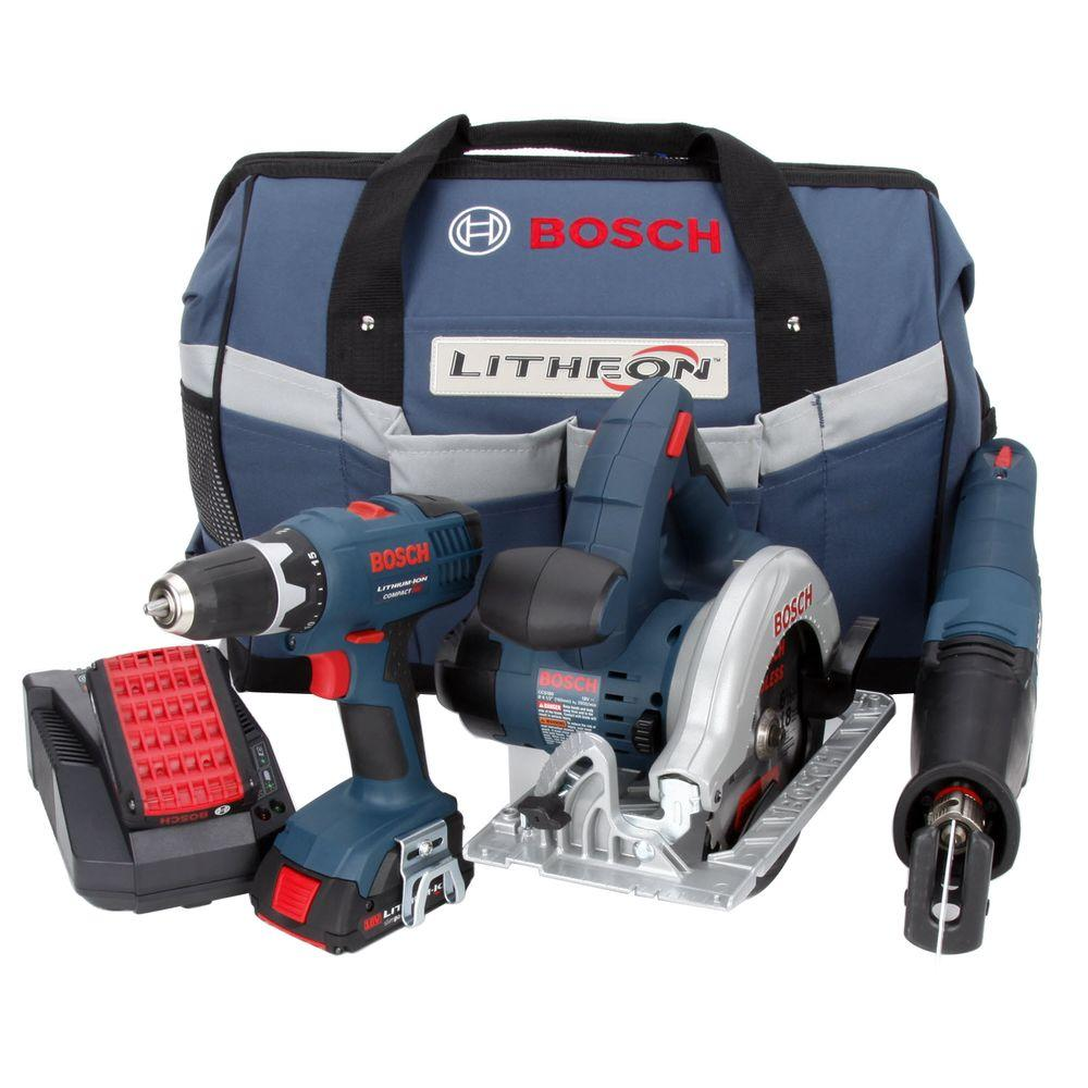 Bosch 18-Volt Lithium-Ion Combo Kit (3-Tool)