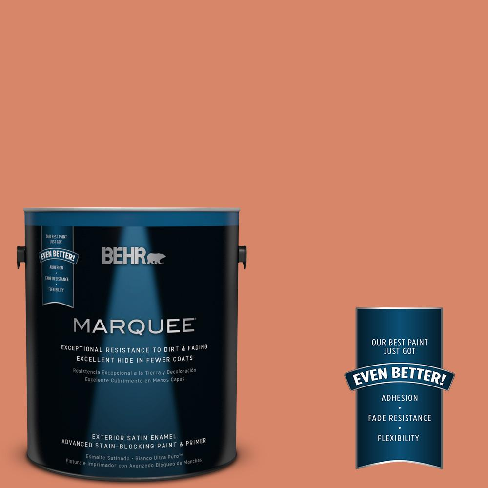 BEHR MARQUEE 1-gal. #M180-5 King Salmon Satin Enamel Exterior Paint