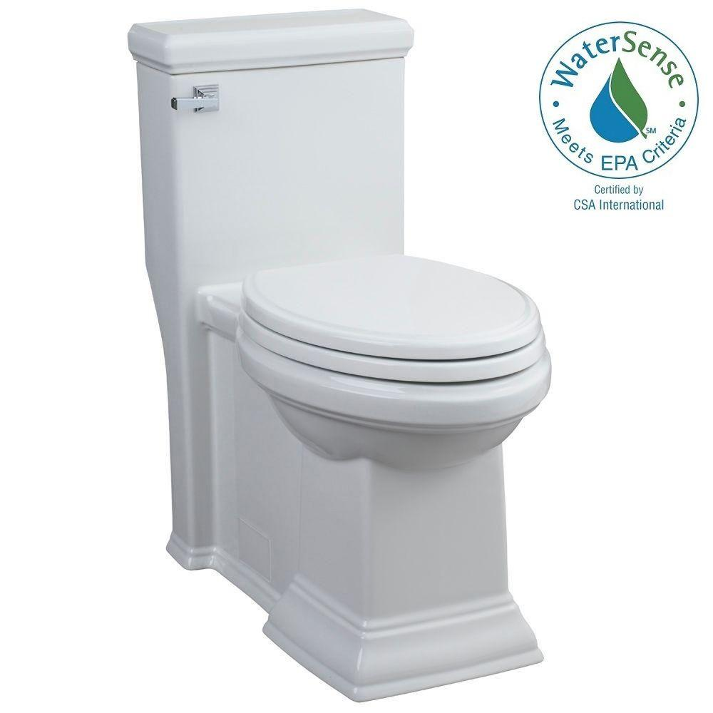 American Standard Town Square 1-piece 1.28 GPF Single Flush Elongated Toilet in White