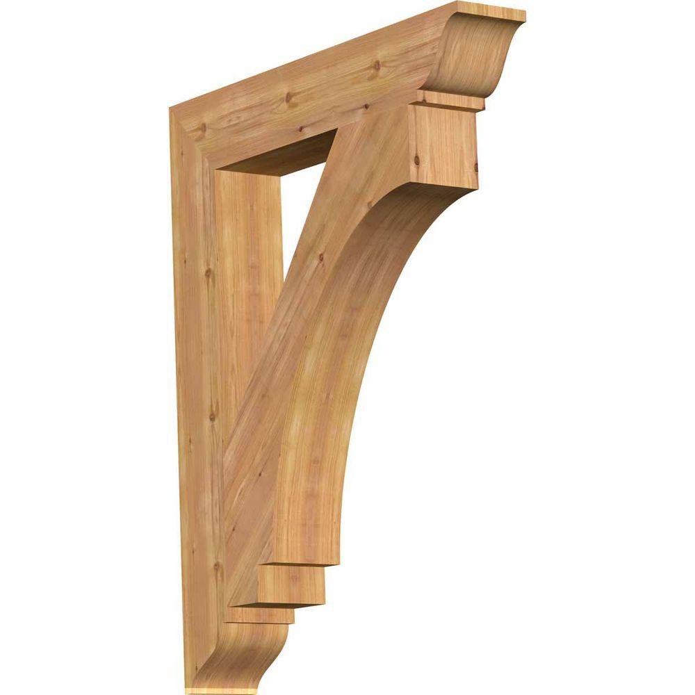 Ekena Millwork 5.5 in. x 42 in. x 34 in. Western Red Cedar Imperial Traditional Smooth Bracket