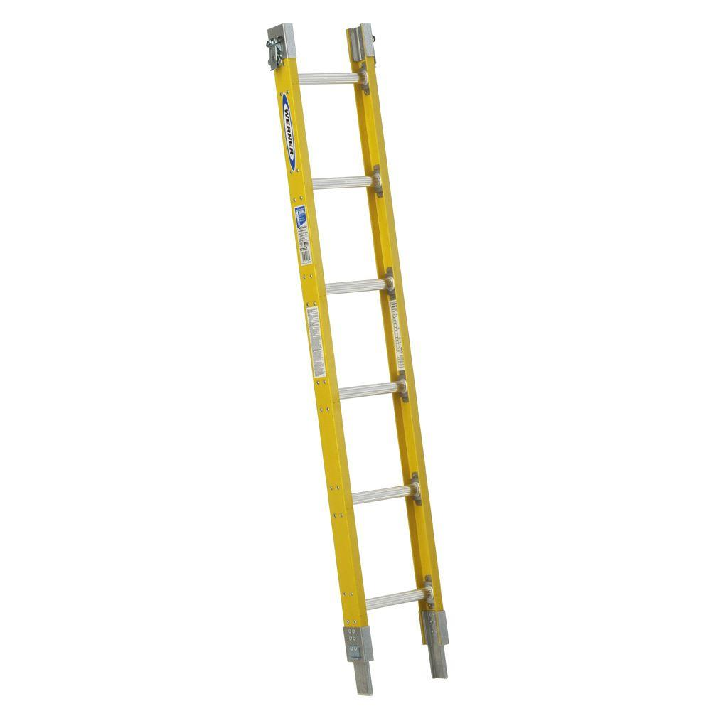 6 ft. Fiberglass Parallel Sectional Ladder with 250 lb. Load Capacity