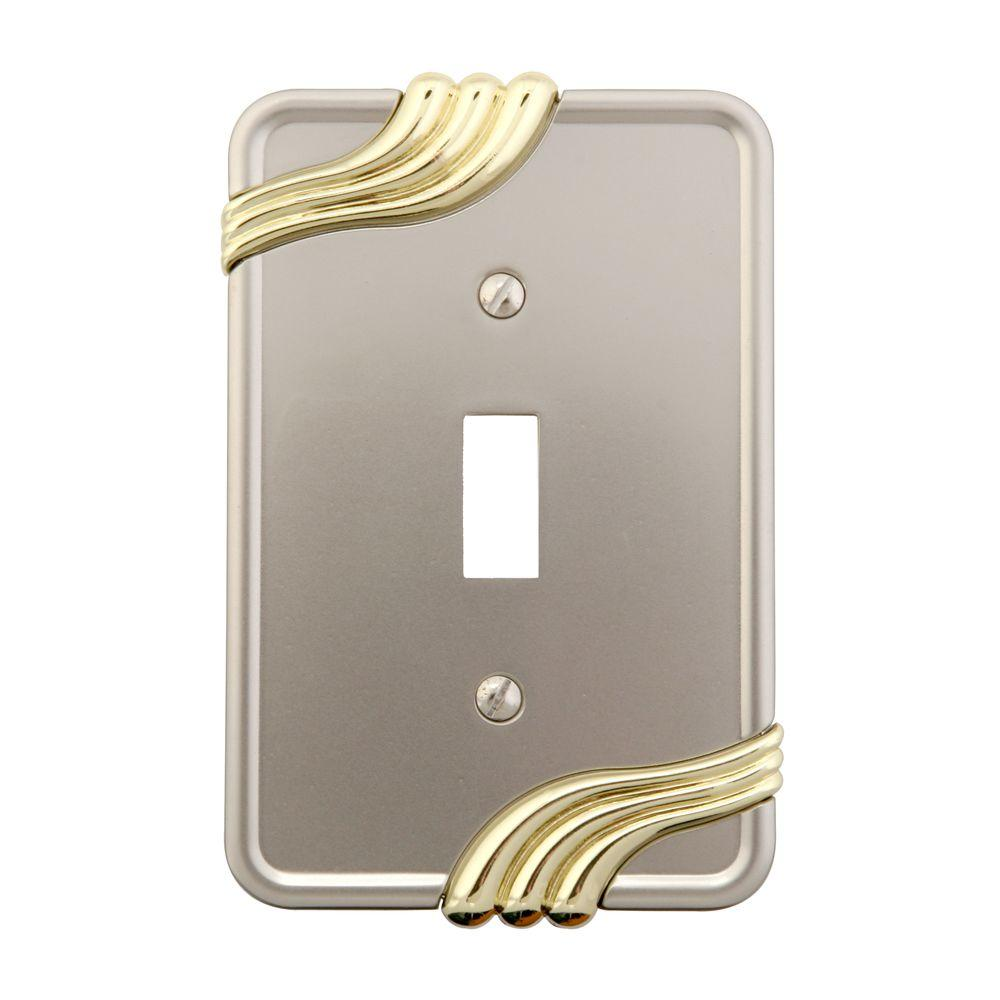 Grayson 1 Toggle Wall Plate - Nickel and Brass