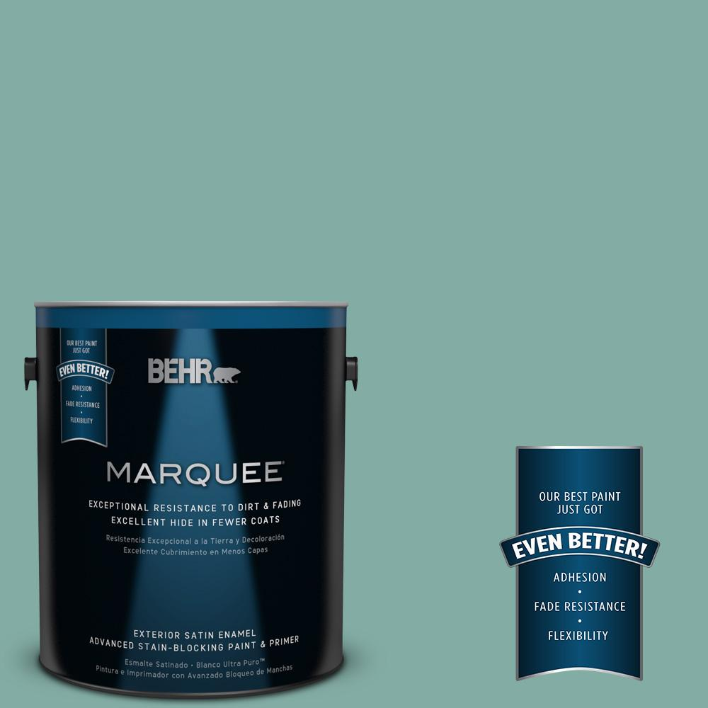 BEHR MARQUEE 1-gal. #M440-4 Summer Dragonfly Satin Enamel Exterior Paint