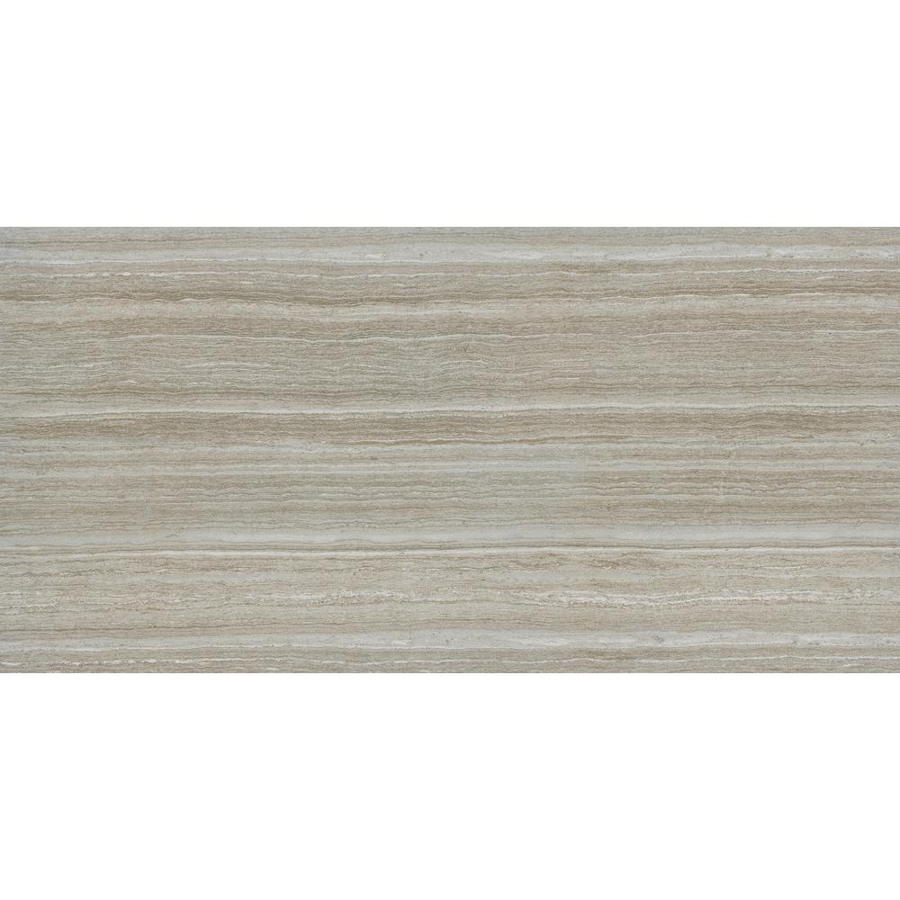 Charisma Silver 12 in. x 24 in. Glazed Ceramic Floor and