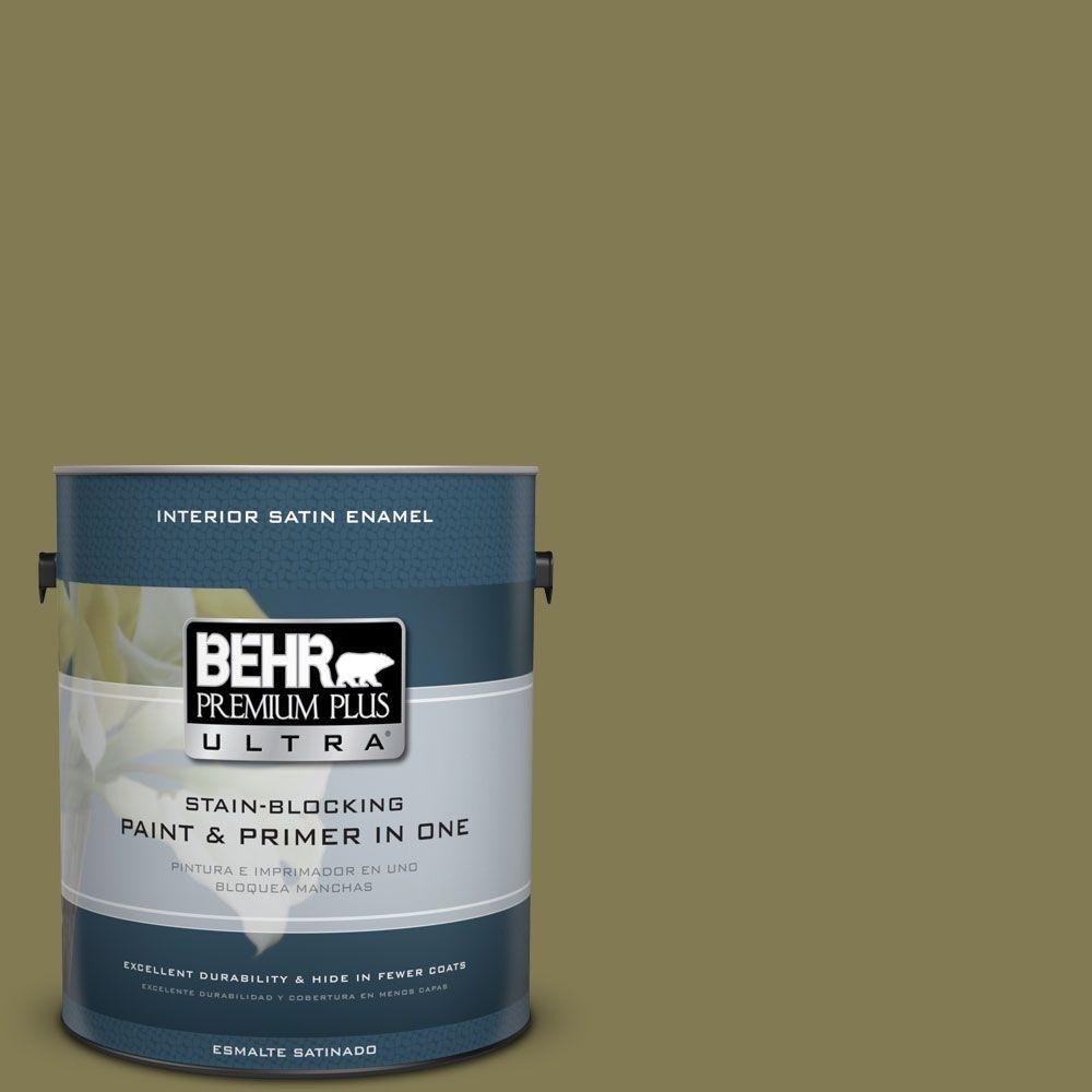 1 gal. #HDC-AC-16A Fern Grove Satin Enamel Interior Paint