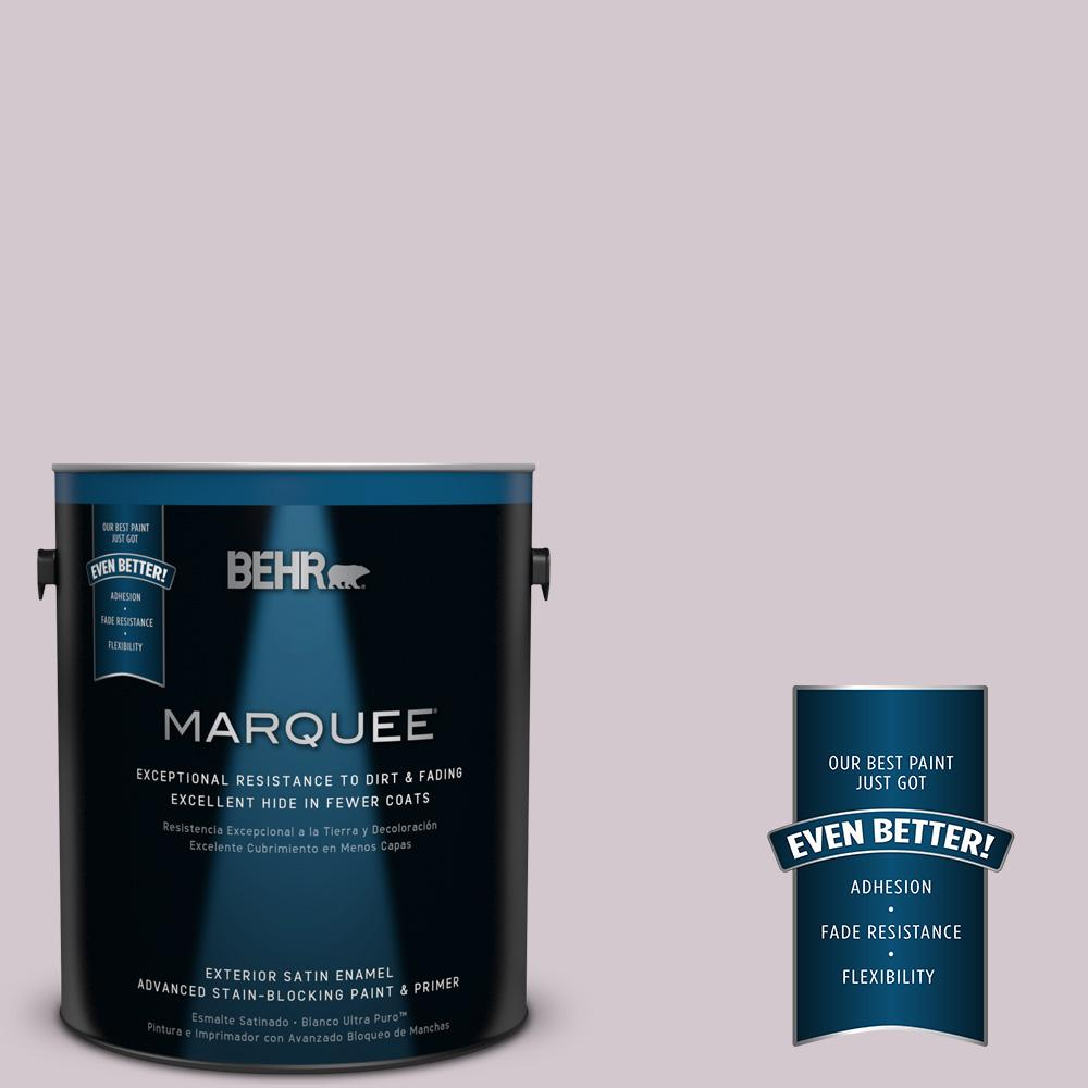 BEHR MARQUEE 1-gal. #N110-1 Dusty Lilac Satin Enamel Exterior Paint