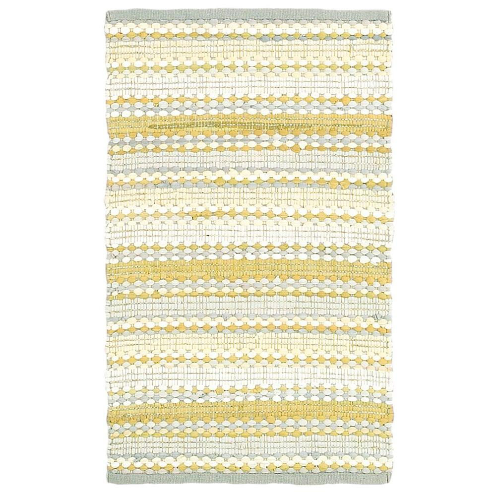 LR Resources Altair Yellow Multi Rectangle 8 ft. x 10 ft. Cotton Reversible Area Rug