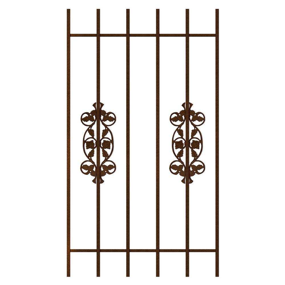 Unique Home Designs Rambling Rose 30 in. x 54 in. Copper 6-Bar Window Guard-DISCONTINUED