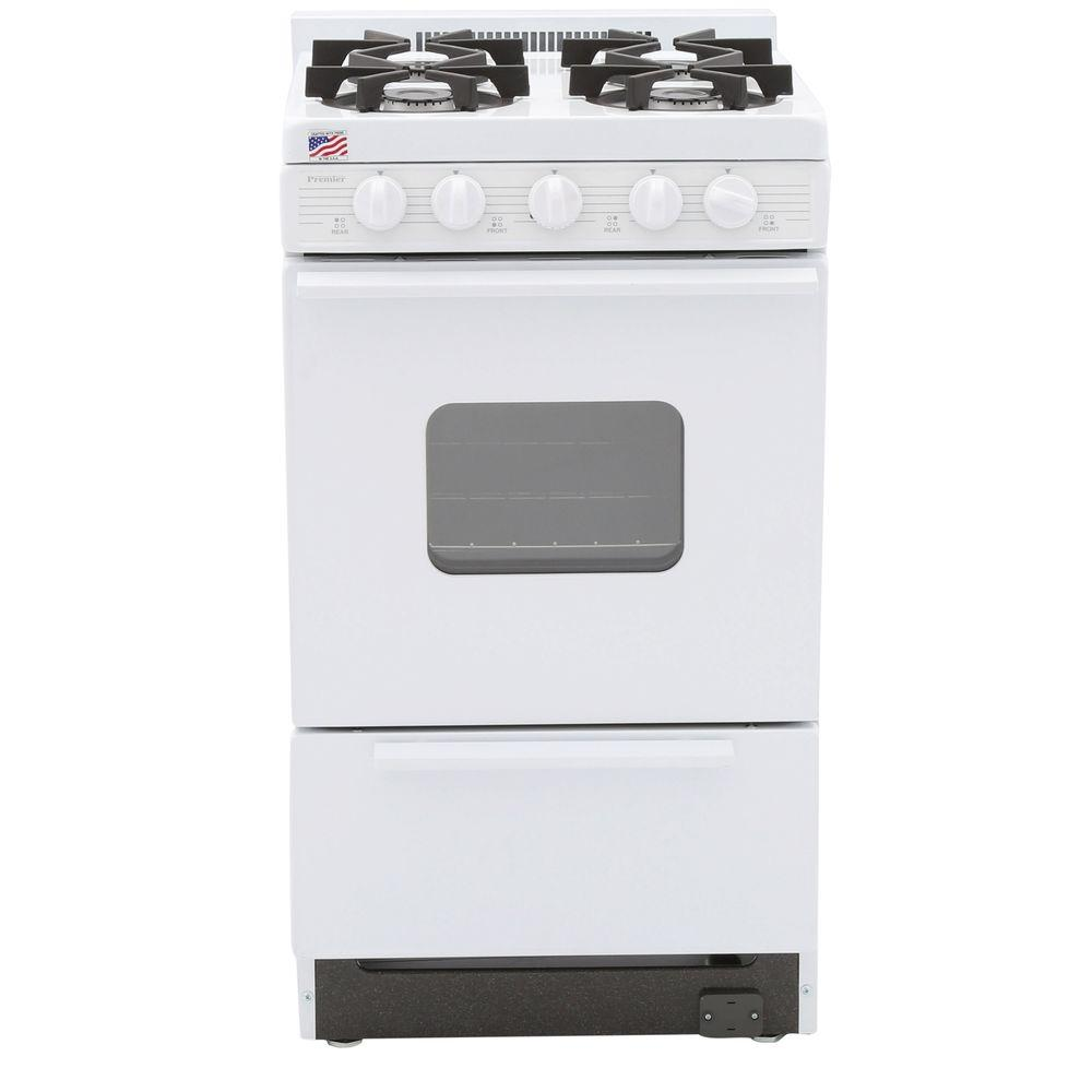 20 in. 2.42 cu. ft. Battery Spark Ignition Gas Range in