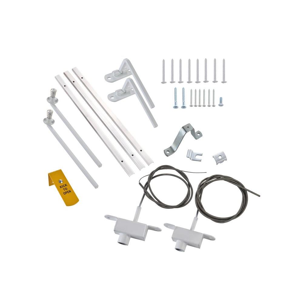 Grisham Window Bar Quick Release Kit, White-WB-QR W - The Home