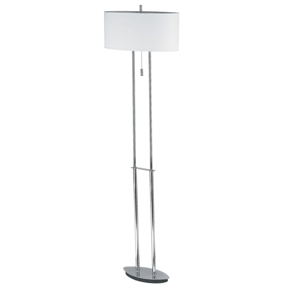 Filament Design Catherine 57 in. 2-Light Polished Chrome Floor Lamp