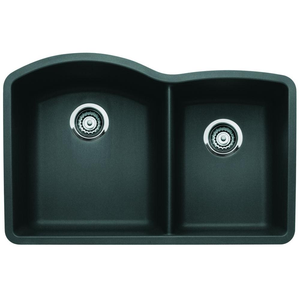 N i granite kitchen sinks 1 3 4 Double Basin Kitchen Sink in