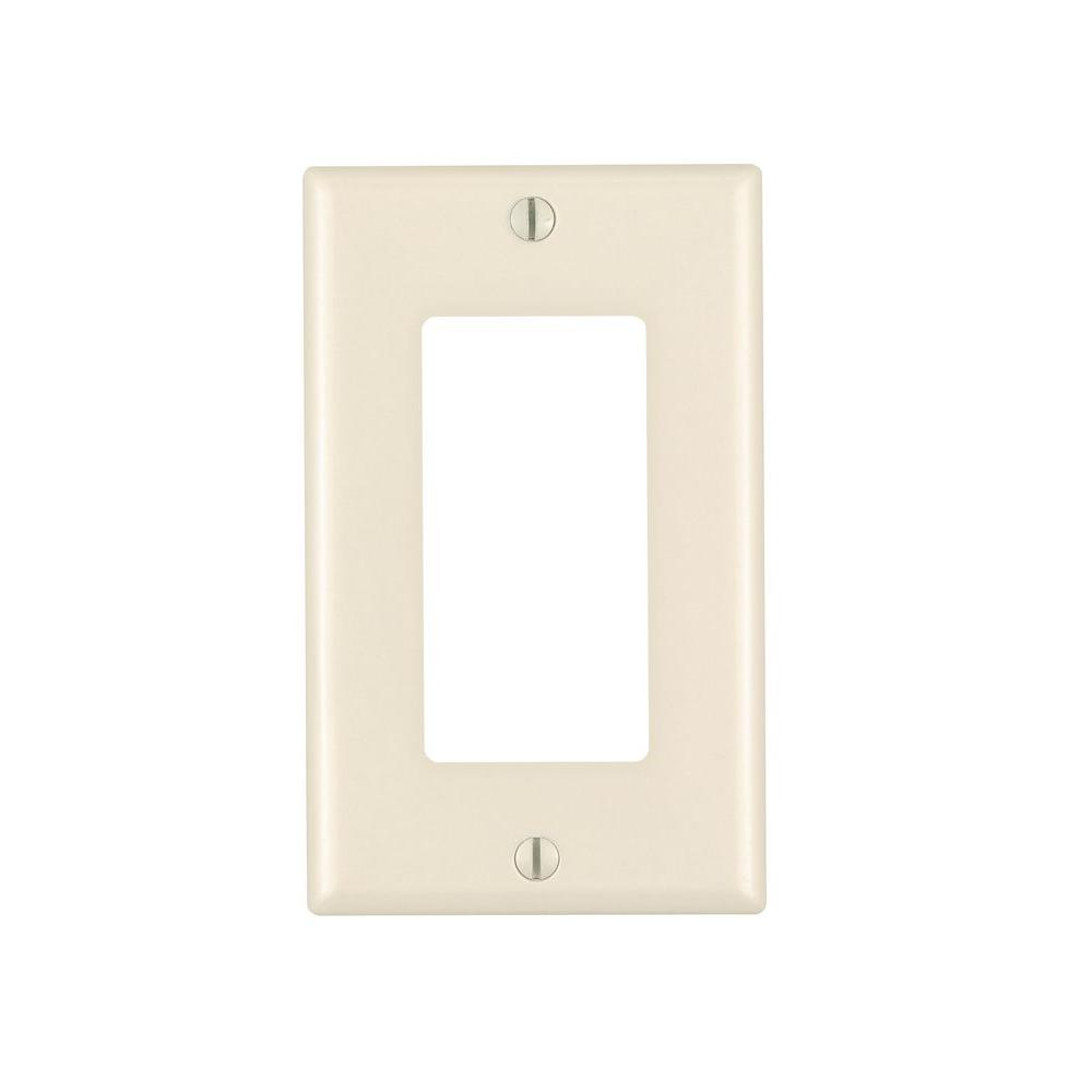 Decora 1-Gang GFCI Device Wall Plate, Light Almond (10-Pack)