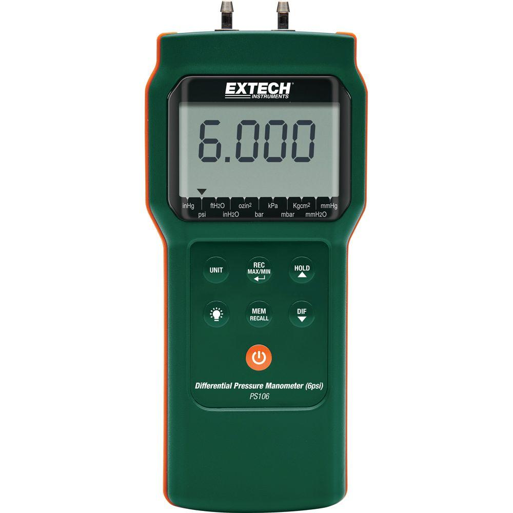 Extech Instruments 6 Psi Differential Pressure Manometer