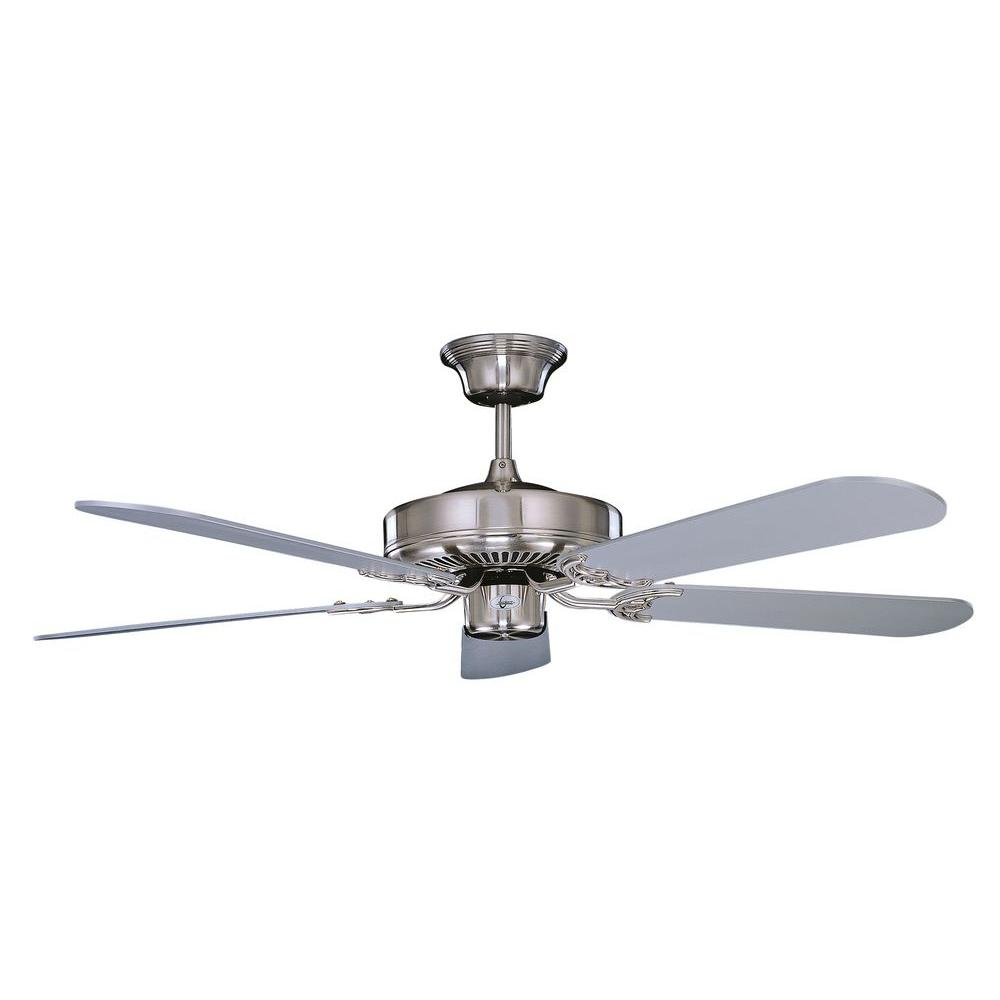 Illumine Non-Light Ceiling Fan Stainless Steel-DISCONTINUED