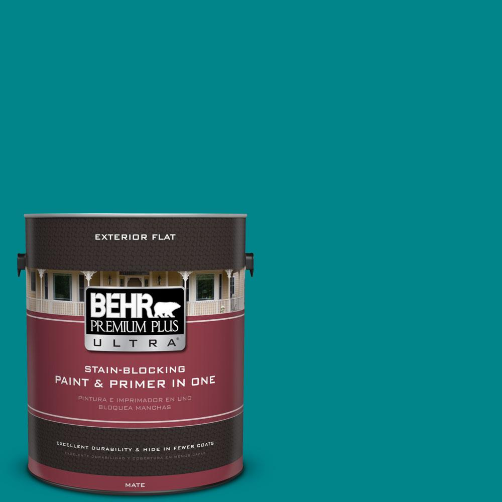 1-gal. #500B-7 Tucson Teal Flat Exterior Paint