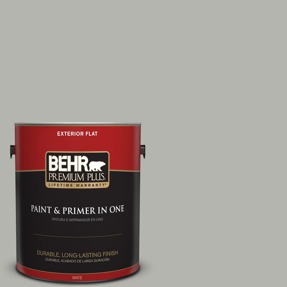 1 gal. #PPU25-08 Heirloom Silver Flat Exterior Paint