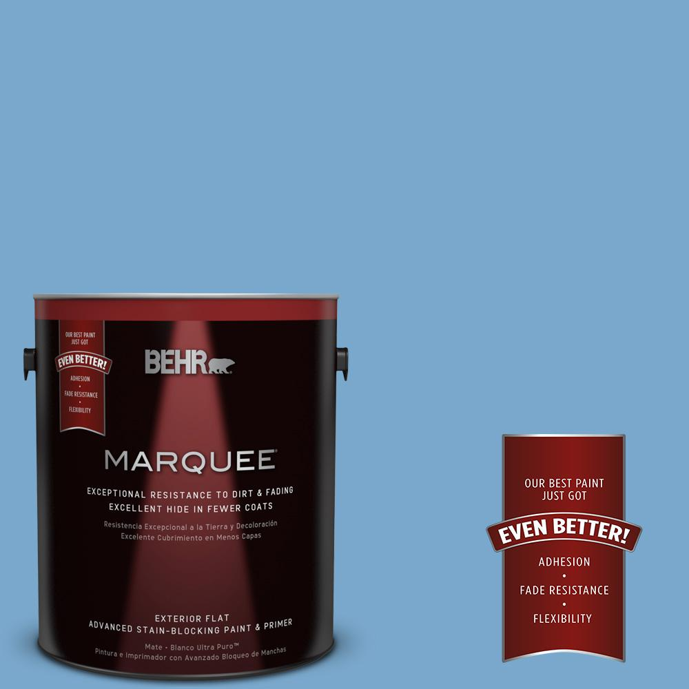BEHR MARQUEE 1-gal. #M520-4 Mirror Lake Flat Exterior Paint-445401 - The
