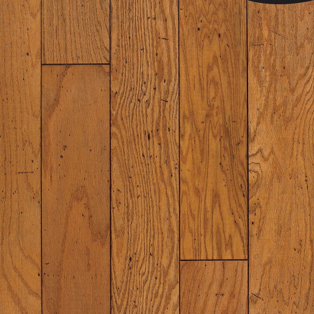 Cliffton Rustic Oak Honey Engineered Click Hardwood Flooring - 5 in. x 7 in. Take Home Sample, Antique