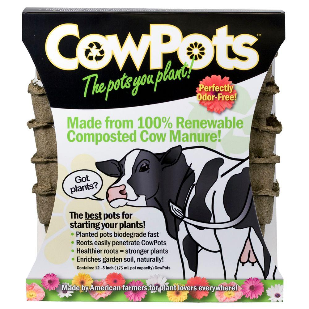Liquid Fence 3 in. Cow Pots (12-Pack)