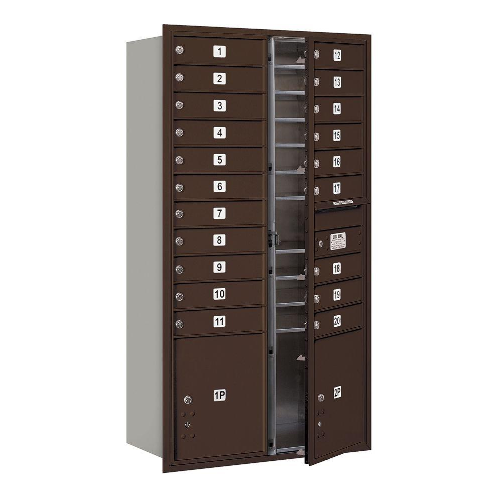 56-3/4 in. Max Height Unit Bronze Private Front Loading 4C Horizontal